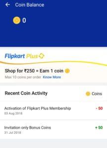 Flipkart Plus Coin Redemption