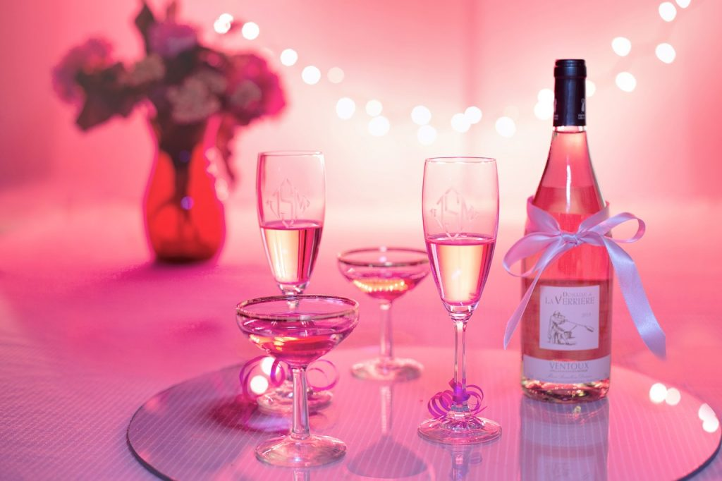 Pink Wine Valentines Day Special
